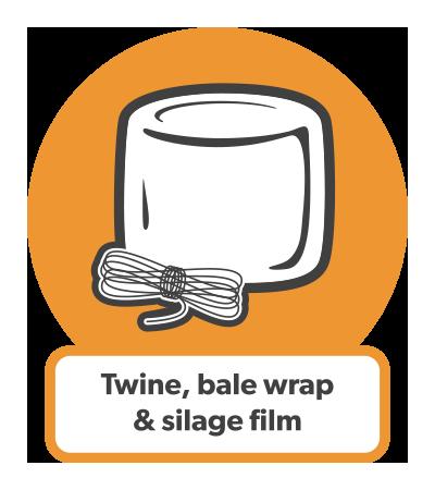 Twine, bale wrap & silage film icon