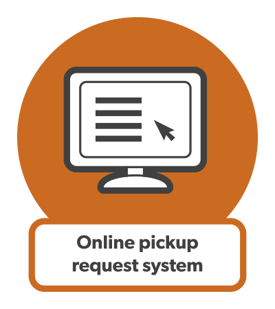 Link to Cleanfarms online pickup request system